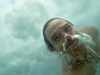 Under a wave (not) in my backyard #marineexplorer