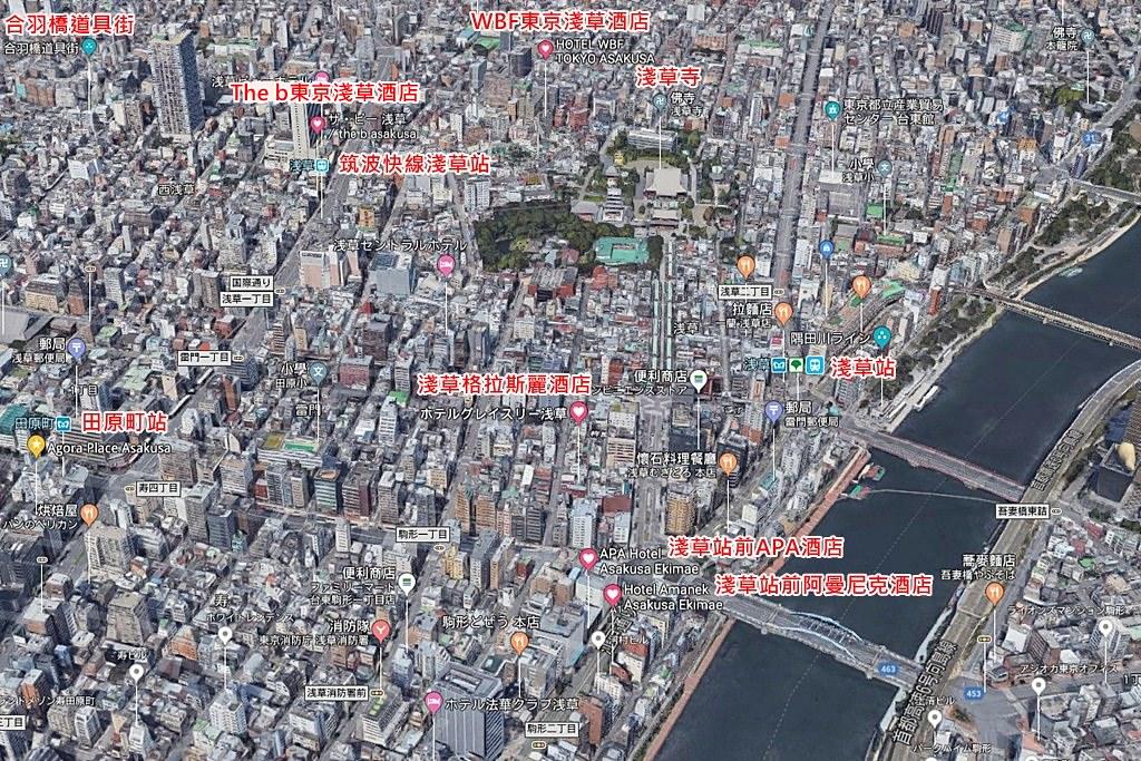 2018 Asakusa Hotels Map