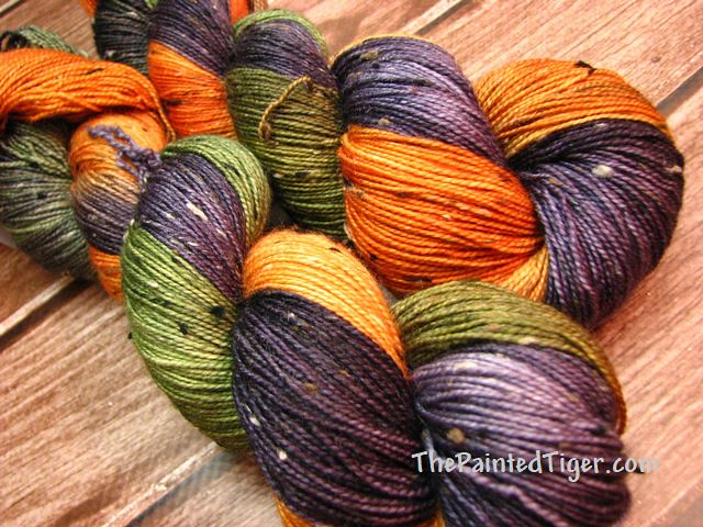 Great Pumpkin - Tiger Club Sept 2018 - Tweed Sock Yarn