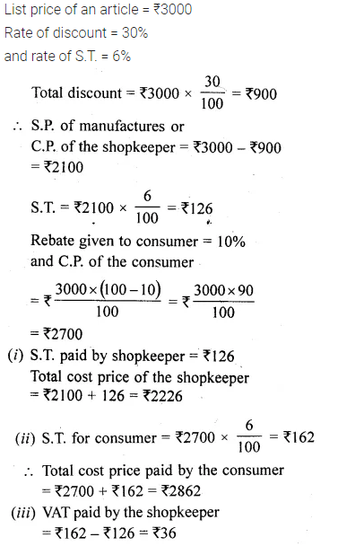 ML Aggarwal Class 10 Solutions for ICSE Maths Chapter 1 Value Added Tax Chapter 4