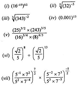 RD Sharma Class 9 Solutions Chapter 2 Exponents of Real Numbers Ex 2.2 - 2