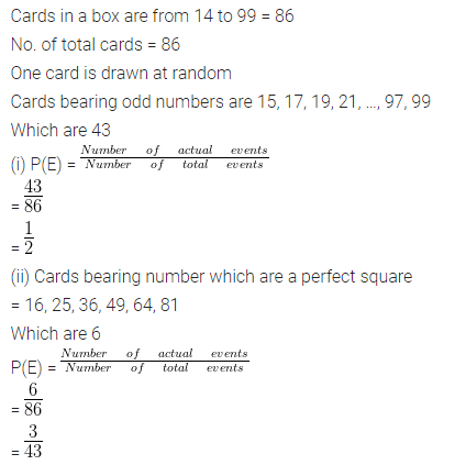 ML Aggarwal Class 10 Solutions for ICSE Maths Chapter 24 Probability Chapter Test 11
