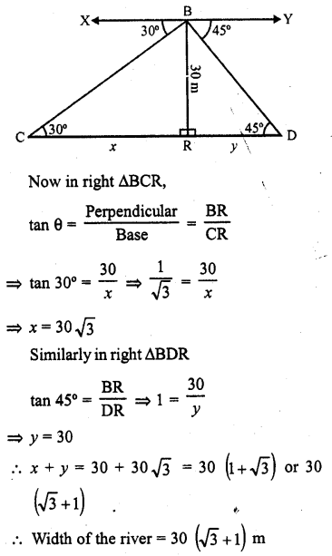 RD Sharma Class 10 Solutions Chapter 12 Heights and Distances Ex 12.1 - 31