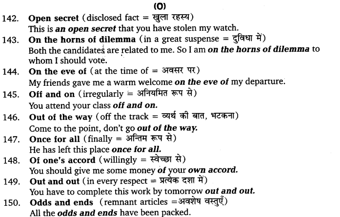 UP Board Solutions for Class 11 English Vocabulary Chapter 9 Idioms and Phrases 20