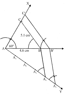 RD Sharma Class 10 Solutions Chapter 9 Constructions Ex 9.2 -10