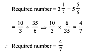 Selina Concise Maths class 7 ICSE Solutions - Fractions (Including Problems)-C20
