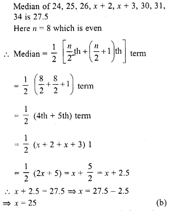 RD Sharma Class 10 Solutions Chapter 15 Statistics MCQS 15