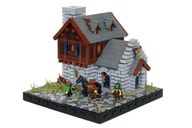 LEGO Medieval Villagers House