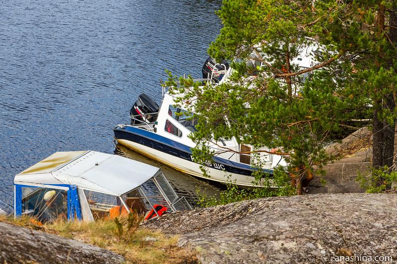 Катера, Ладожское озеро, остров Хонкасало