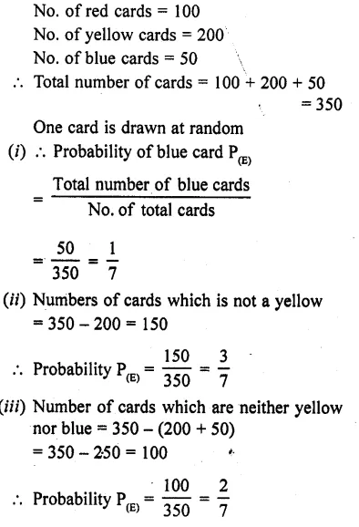 RD Sharma Maths Class 10 Solutions Chapter 13 Probability