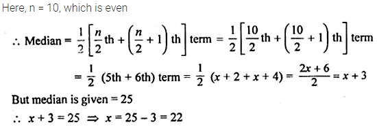 ML Aggarwal Class 10 Solutions for ICSE Maths Chapter 23 Measures of Central Tendency Chapter Test 14