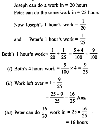 Selina Concise Mathematics class 7 ICSE Solutions - Unitary Method (Including Time and Work)-c8