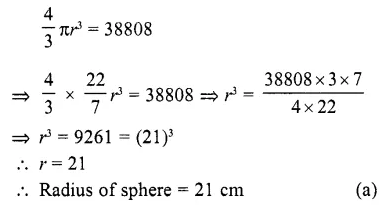 RD Sharma Class 10 Solutions Chapter 14 Surface Areas and Volumes MCQS 28