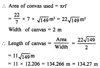 RD Sharma Solutions Class 9 Chapter 20 Surface Areas and Volume of A Right Circular Cone
