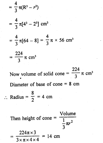 RD Sharma Class 9 Solutions Chapter 21 Surface Areas and Volume of a Sphere VSAQS 8