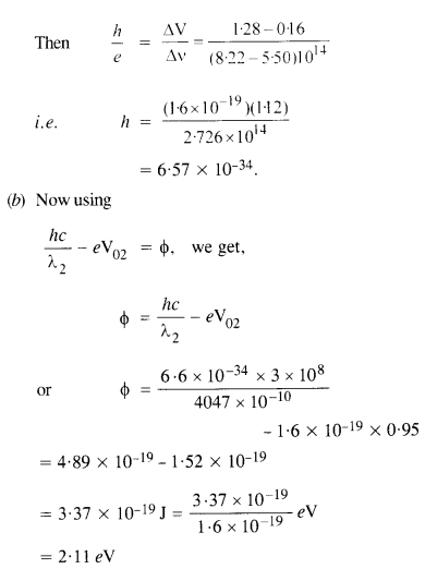 NCERT Solutions for Class 12 physics Chapter 11 Dual Nature of Radiation and Matter.45