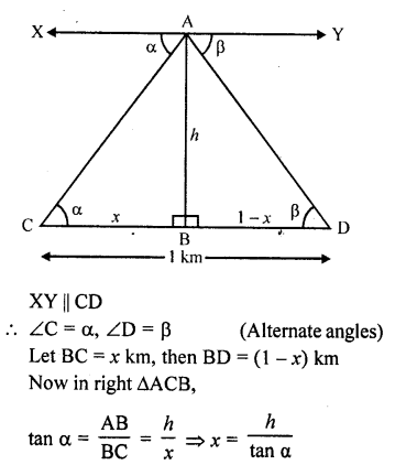 RD Sharma Class 10 Solutions Chapter 12 Heights and Distances Ex 12.1 - 68