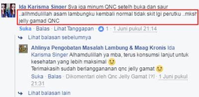 Testimoni / Kesaksian Nyata QnC Jelly Gamat Langsung Dari Para Konsumen