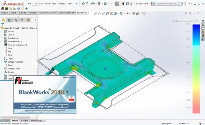 Working with FTI BlankWorks 2018.1 for SolidWorks 2018 Win64 full license