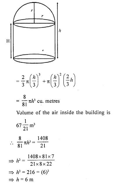 RD Sharma Class 10 Solutions Chapter 14 Surface Areas and Volumes Ex 14.2 36