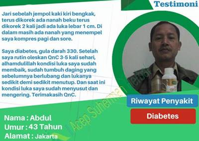 QnC Jelly Gamat  Atasi Penyakit Diabetes