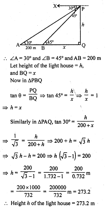 RD Sharma Class 10 Solutions Chapter 12 Heights and Distances Ex 12.1 - 44