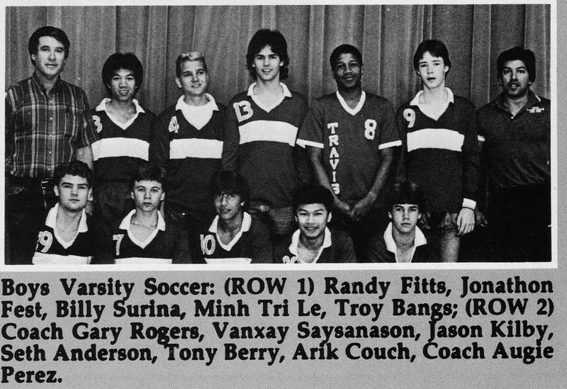 Seth  Varsity Soccer from 1985 1986 yearbook