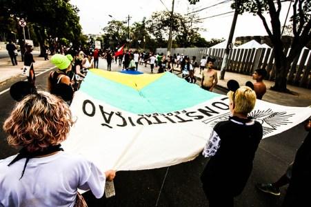 """""""Pela Constituição, todos os brasileiros têm direitos que foram inscritos na lei, mas ainda não foram postos em prática"""" - Créditos: Comunicação Levante Popular da Juventude"""