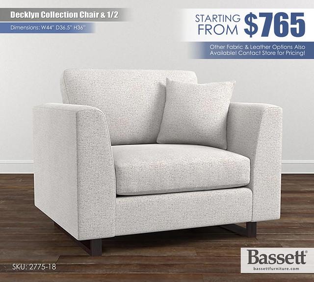 Decklyn Chair & Half Bassett_2775-18S