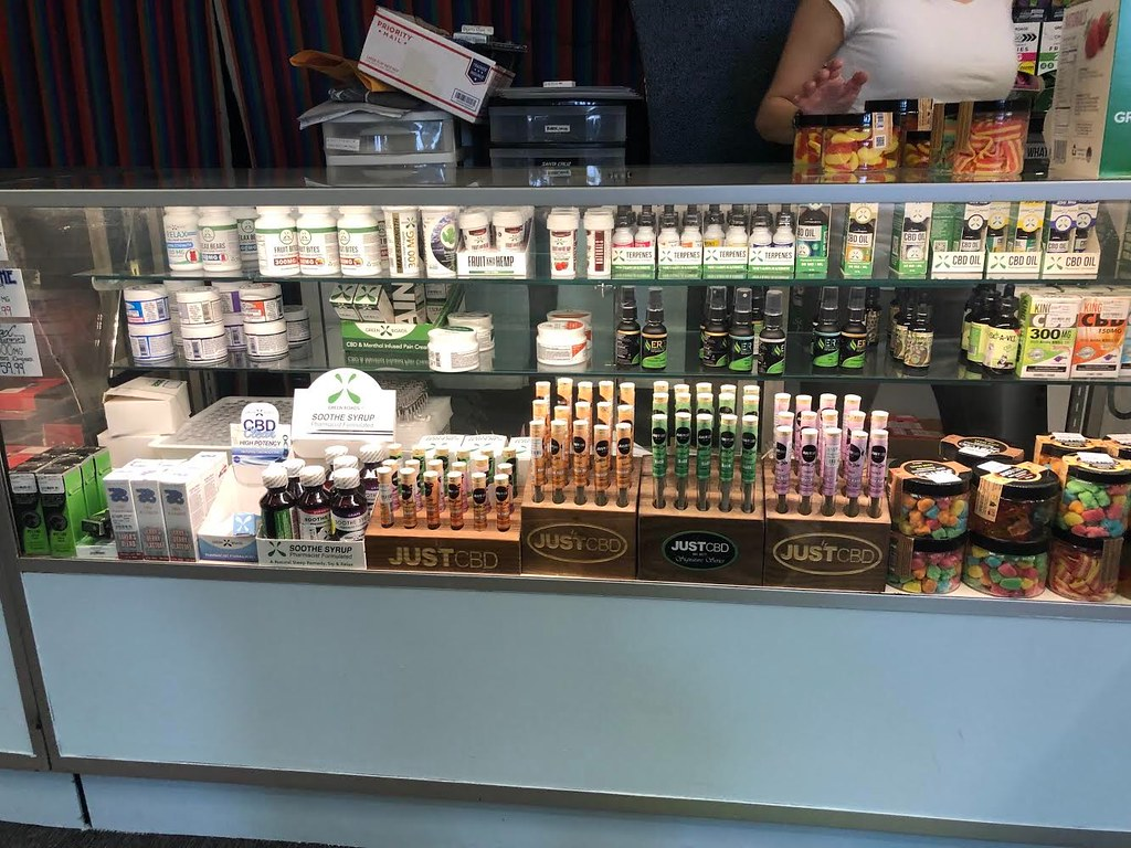 Frolic On Main Street's CBD supply, ranging from oils, topicals, gummies to dog treats.