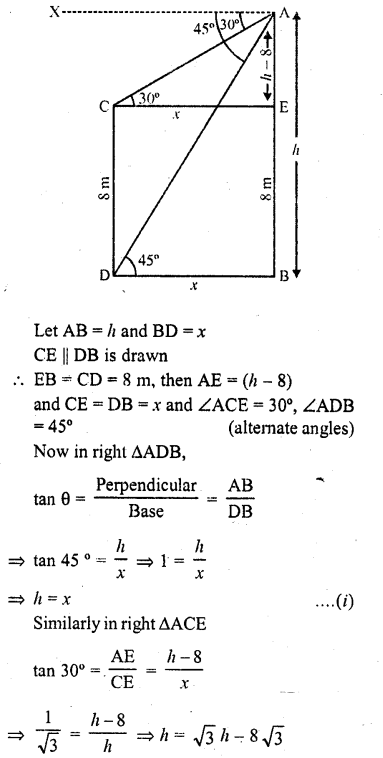 RD Sharma Class 10 Solutions Chapter 12 Heights and Distances Ex 12.1 - 25