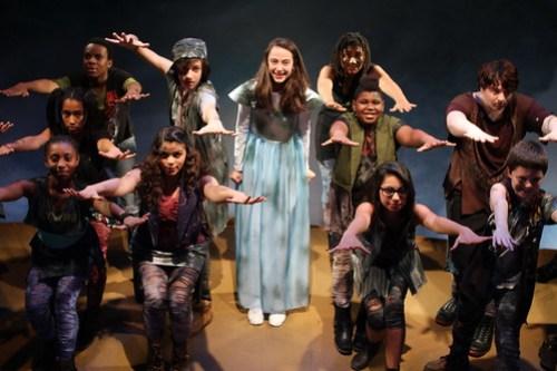 Allie Korbey and the cast of ODD DAY RAIN - TADA!