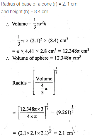 ML Aggarwal Class 10 Solutions for ICSE Maths Chapter 18 Mensuration Chapter Test 16