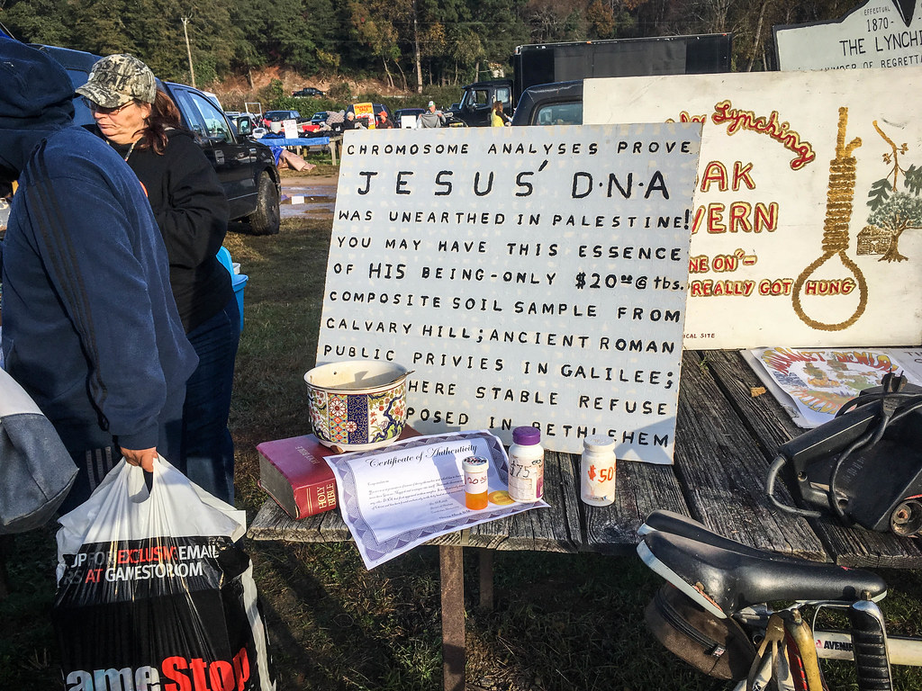 Jesus' DNA at Pickens Flea Market