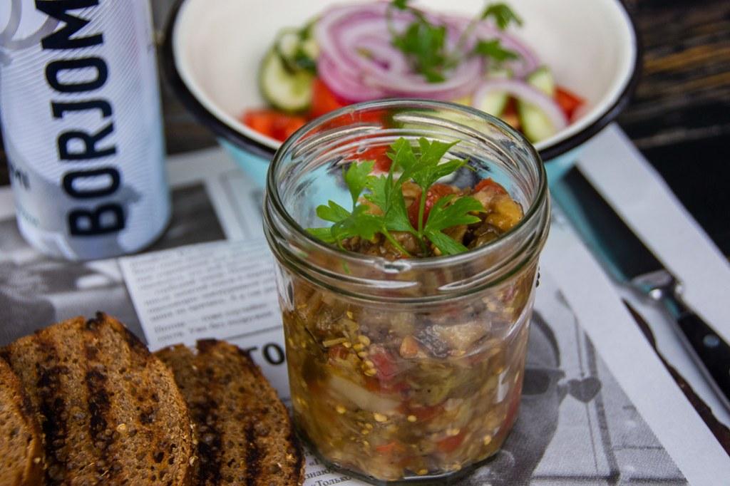 Odessa food aubergine caviar
