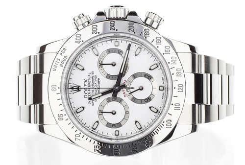 FS:Rolex Daytona Steel white dial 40mm complete ref