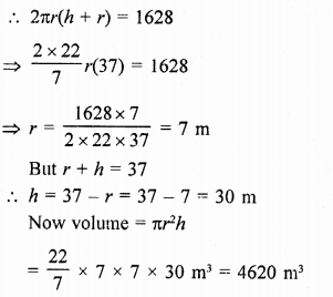 RD Sharma Mathematics Class 9 Solutions Chapter 19 Surface Areas and Volume of a Circular Cylinder