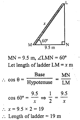RD Sharma Class 10 Solutions Chapter 12 Heights and Distances Ex 12.1 - 2
