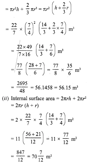 RD Sharma Class 10 Solutions Chapter 14 Surface Areas and Volumes Ex 14.2 13a