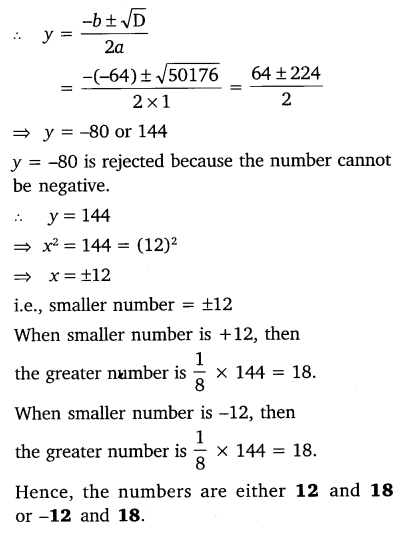 NCERT Solutions for Class 10 Maths Chapter 4 Quadratic Equations 30