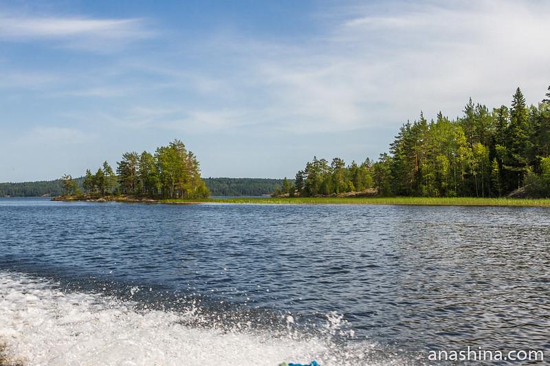 Протока, Ладожское озеро