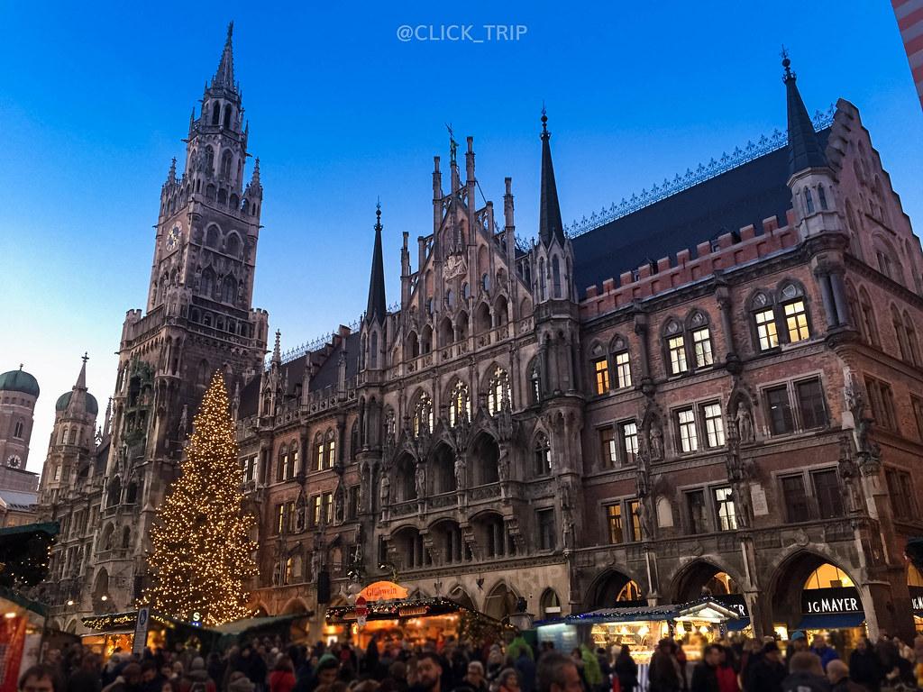 Marienplatz | El principal de los mercadillos de Navidad de Múnich | ClickTrip.ES