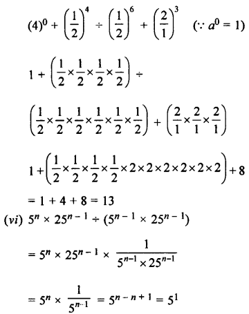 Selina Concise Maths class 7 ICSE Solutions - Exponents (Including Laws of Exponents)-5b............