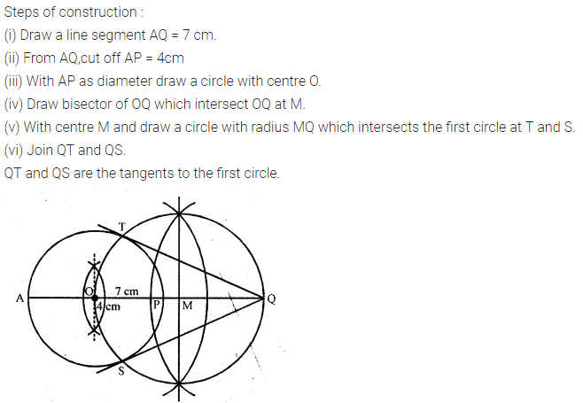 ML Aggarwal Class 10 Solutions for ICSE Maths Chapter 17 Constructions Chapter Test 2