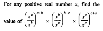 Exponents of Real Numbers Problems With Solutions PDF RD Sharma Class 9 Solutions