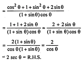 ML Aggarwal Class 10 Solutions for ICSE Maths Chapter 19 Trigonometric Identities Chapter Test 6a