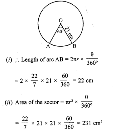 RD Sharma Class 10 Solutions Chapter 13 Areas Related to Circles Ex 13.2 - 21