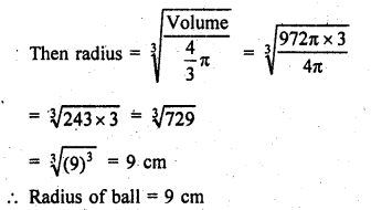 RD Sharma Class 9 Solutions Chapter 21 Surface Areas and Volume of a Sphere Ex 21.2 27a