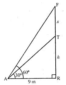 RD Sharma Class 10 Solutions Chapter 12 Heights and Distances Ex 12.1 - 18