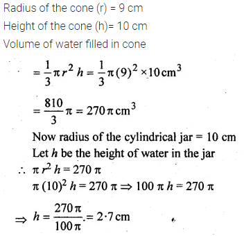 ML Aggarwal Class 10 Solutions for ICSE Maths Chapter 18 Mensuration Chapter Test 12